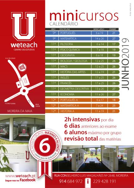 Weteach - Centros Estudos - Preparação Exames Nacionais - MiniCursos - Moreira da Maia