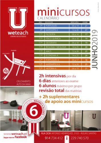 Weteach - Centros Estudos - Preparação Exames Nacionais - MiniCursos - Águas Santas