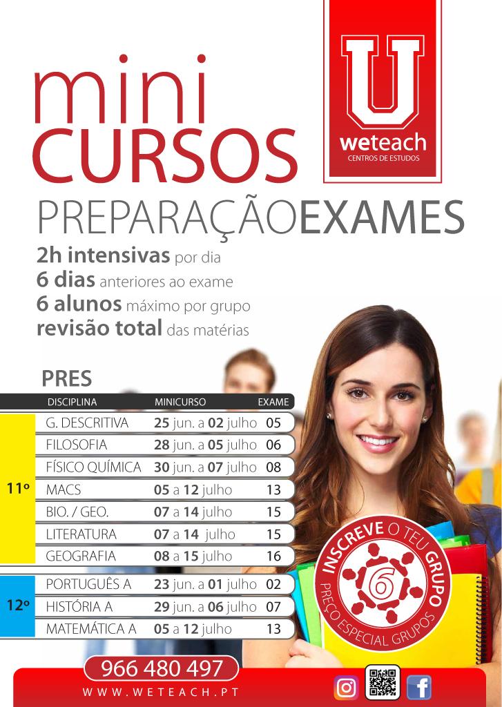 Weteach - Centros Estudos - Preparação Exames Nacionais - MiniCursos - Canidelo